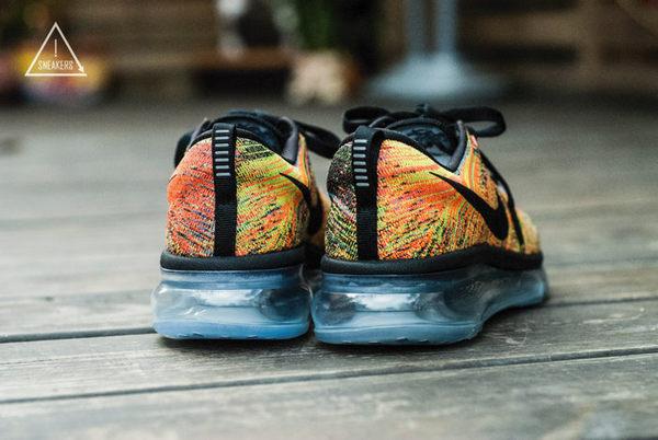 ISNEAKERS WMNS NIKE FLYKNIT MAX 620659-005 彩虹橘 全氣墊 冰底編織 女慢跑鞋