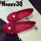 優雅淑女蝴蝶結漆皮珍珠縫線平底鞋-黑/藍/紅/灰35-41【AAA0137】預購
