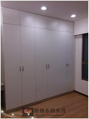 【歐雅系統家具】系統家具 / 全室規劃  / EGGER  主臥系統衣櫃 特價:41675