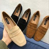夏季英倫復古豆豆鞋平底一腳蹬樂福鞋磨砂懶人鞋