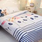 派對熊貓 A2雙人兩用被乙件 100%復古純棉 極日風 台灣製造 棉床本舖