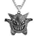 《QBOX 》FASHION 飾品【CHE711】精緻個性嘻哈小惡魔怪獸鑄造鈦鋼墬子項鍊/掛飾