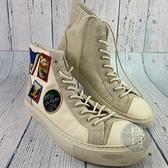 BRAND楓月 LOUIS VUITTON LV FD0168 白色 LOGO 徽章 高筒帆布鞋 #6