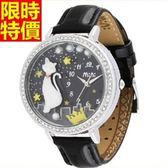 鑽錶-典型造型經典女腕錶2色5j81[巴黎精品]