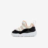 Nike Jordan 11 [BQ7102-108] 小童鞋 運動 休閒 輕量 緩震 舒適 免鞋帶 喬丹 穿搭 米白黑