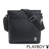 PLAYBOY- 直式斜背包 FLOW系列-都會黑