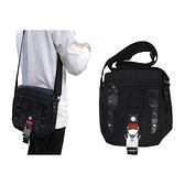 【南紡購物中心】肩側包小容量主袋+外袋共四層防水尼龍布+皮革材質中性款肩背斜側輕巧多袋口