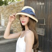 降價兩天-遮陽帽太陽帽女夏遮陽帽防曬遮臉百搭草帽沙灘帽子涼帽大沿禮帽戶外