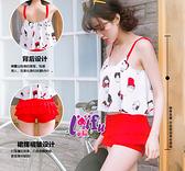 來福,C633泳衣紅色春限二件式泳衣游泳衣泳裝比基尼,售價950元