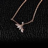項鍊 純銀鍍18K金 水晶吊墜子-清新搶眼生日情人節禮物女飾品73dn28【時尚巴黎】