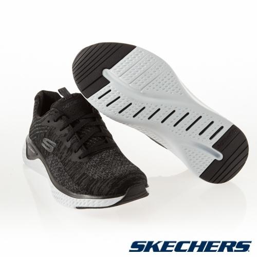 SKECHERS SOLAR FUSE 女鞋 慢跑 休閒 寬楦 輕量 避震 黑【運動世界】13328WBKW