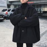 ins毛呢外套男短款韓版英倫風大衣風衣學生日系潮流寬松冬季加厚 晟鵬國際貿易