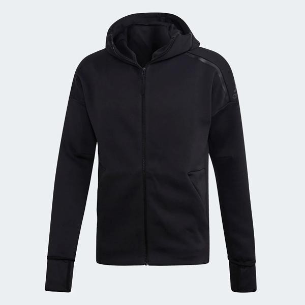 L- adidas Z.N.E. FAST RELEASE 男裝 外套 連帽 慢跑 休閒 排汗 黑 EB5230