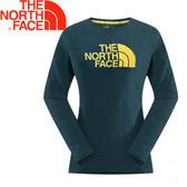 【The North Face 女款 Logo棉長T《深藍色》】364P40Q/吸濕排汗/機能性/長★滿額送