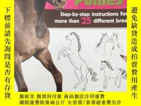 二手書博民逛書店Learn罕見to Draw Horses & PoniesY1