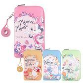 Disney迪士尼 花朵風皮革手機包/萬用包(6.2吋/可掛脖) ◆86小舖 ◆