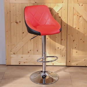 LOGIS~1入 多莉絲皮面吧台椅 吧檯椅 高腳椅 LOS-173HX外黑內紅