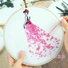 孕期刺繡DIY手工布藝創意制作 歐式古風絲帶繡材料包初學蘇繡