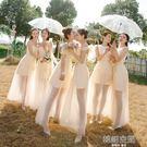 香檳色姐妹團伴娘服春夏季韓版伴娘禮服顯瘦姐妹裙女畢業