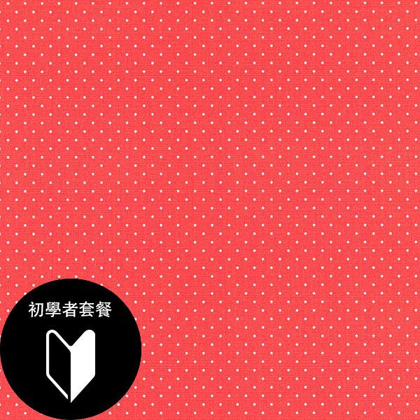 紅底白色圓點紋壁紙  女生房 女孩房rasch(德國壁紙) 2019 / 442311 +道具套餐