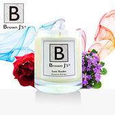 【Brown J s】溫柔的愛(藍風鈴+野薔薇)頂級天然植物大豆蠟香氛蠟燭