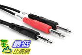 104 美國直購線纜Hosa Cable STP201 TRS To Dual 1 4 I