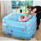 嬰兒游泳池家庭寶寶新生兒家用兒童充氣泳池保溫嬰幼兒海洋球戲水igo     易家樂