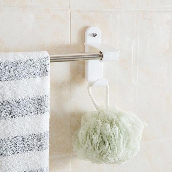 [超豐國際]吸壁式無痕毛巾架單桿毛巾掛架廚房免打孔無痕抹布架毛巾桿