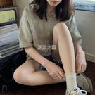 格子短袖襯衫女學生韓版寬鬆bf夏季新款ins超火的襯衣快速出貨