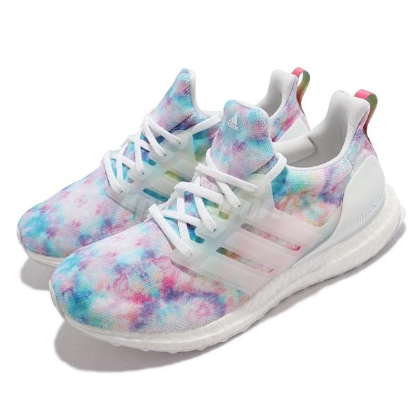 adidas 慢跑鞋 UltraBoost 4.0 DNA Tie-Dye 彩色 女鞋 愛迪達 【ACS】 GZ7098