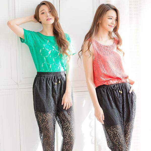 魅力輕熟風蕾絲3件式衣褲組