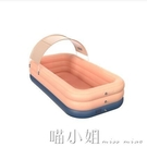 超大號成人充氣游泳池家用摺疊桶嬰兒童小孩寶寶室內水池戶外加厚 喵小姐