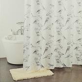 特多龍浴簾-寫意鳥
