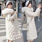 風衣大衣外套新款羽絨棉服中長款大毛領過膝保暖韓版棉衣厚外套-大小姐韓風館