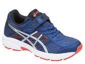亞瑟士 ASICS 兒童慢跑鞋 GEL-CONTEND 4 PS (藍銀) 舒適性的入門跑鞋 C709N-400【 胖媛的店 】