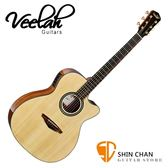Veelah 吉他 V58-OMCE 單板 可插電 民謠吉他-附贈Veelah木吉他琴袋 OM桶身 台灣公司貨