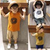 兒童短袖t恤夏裝夏季男孩上衣中大童無袖純棉背心男童t恤 潮 奇思妙想屋