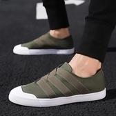 2019新款秋季男鞋子潮流韓版男士潮鞋透氣帆布休閒鞋綠色布鞋板鞋  茱莉亞