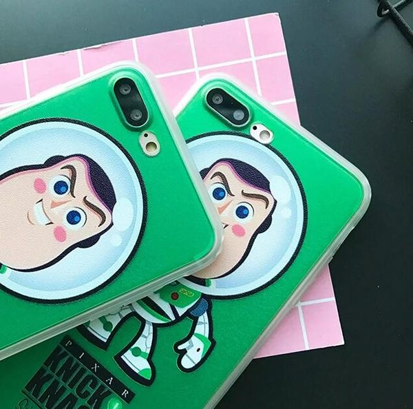 【SZ33】iPhone 7/8 保護殼 蠶絲紋巴斯光年 iphone 6 plus手機殼 iPhone 7/8 plus 保護殼 iphone 6s 手機殼