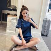 冰絲睡衣女夏兩件套絲綢分體短袖短褲套裝真絲學生清新韓版家居服 限時八折鉅惠 明天結束!