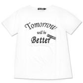 Black & White Voice T-shirt-明天會更好(White)