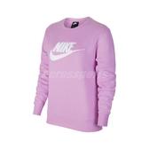 Nike 長袖T恤 NSW Essential Sweatshirt 紫 白 女款 大學T 運動休閒【ACS】 DC5139-616