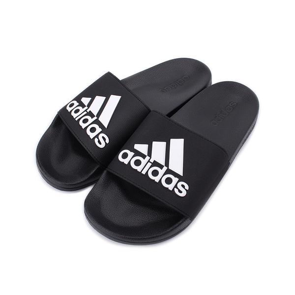 ADIDAS ADILETTE SHOWER 運動拖鞋 黑白 F34770 男鞋 鞋全家福