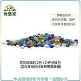 【綠藝家】亮彩琉璃石 2分 1公斤分裝包 (混合其他石材裝飾更顯美麗)