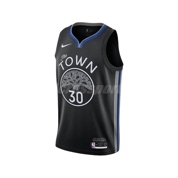 Nike 球衣 Stephen Curry Warriors City Edition Nike NBA Swingman Jersey 黑 藍 男款 勇士 【PUMP306】 AV4638-014
