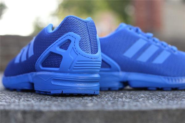 adidas 休閒慢跑鞋 ZX Flux 全藍 藍色 經典款 男鞋 女鞋 情侶鞋 (布魯克林)2016 8月  S32280