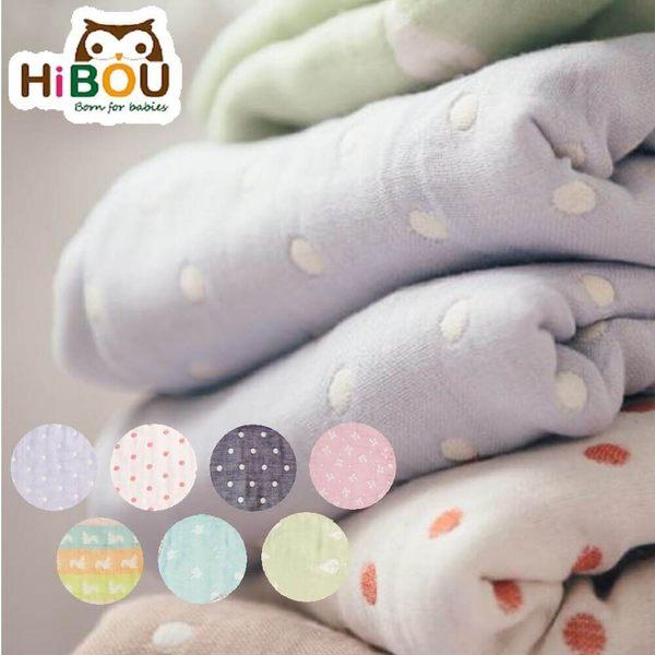 Hibou 喜福 六層紗呼呼大睡被 (M號-105X82.5CM) 七色可選/多彩松鼠 廠商直送 大樹
