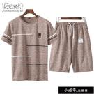 套裝/T恤夏季休閒套裝男士短袖短褲套裝男青年運動服套裝爸爸【全館免運】
