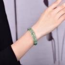 正品竹節造型油青綠冰種東陵玉手鐲手環