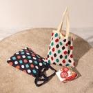 韓版復古女單肩側背包購物袋大容量手提毛線包針織包【聚可愛】